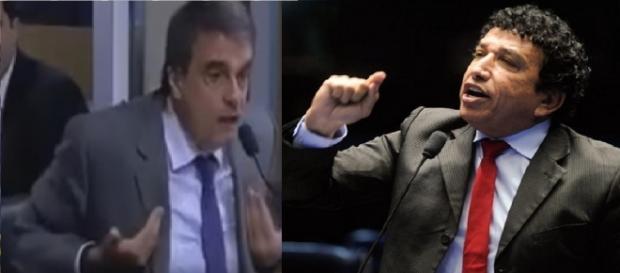 José Eduardo Cardozo e Magno Malta - Foto/Montagem
