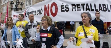 Los sindicatos de movilizan ante un nuevo recorte y más privatización en Cataluña.