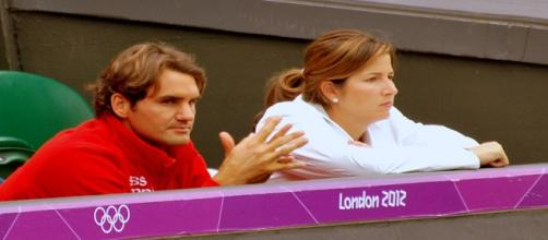 Roger Federer and his wife Mirka during London 2012 Olympics/ Photo: Kate (Flickr) CC BY-SA 2.0