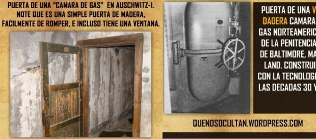 Comparación de puerta en Auschwitz.