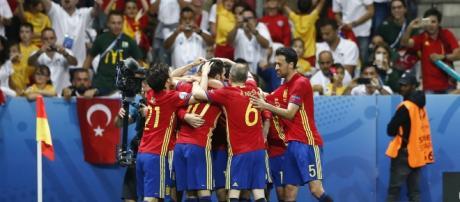 Espanha comemora vitória na Euro (Imagem - Reprodução da Web)