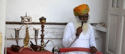 Méditation d'un sadhu rajasthani
