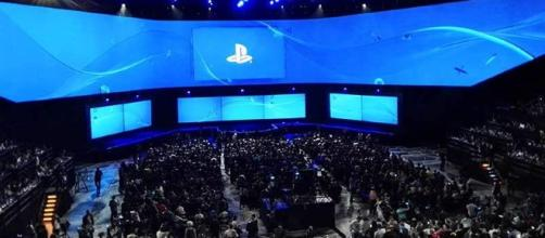 Palco do evento E3 2016, no momento da apresentação da Sony