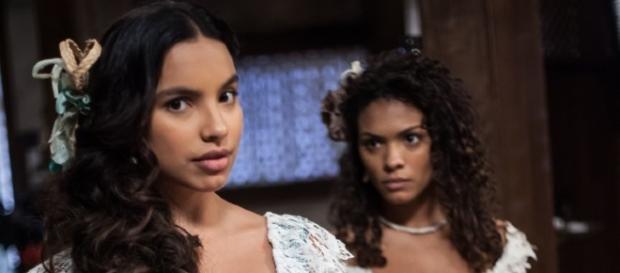 Juliana escapa de castigo e Esméria se dá mal (Divulgação/Record)
