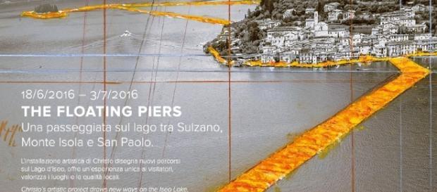 LAGO D'ISEO: Ecco il Ponte galleggiante più romantico d'Italia ...