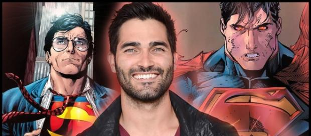 Source: Tyler Hoechlin against backdrops of Superman in a video on Youtube.