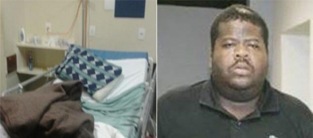 Foto do quarto onde o traficante (à direita) foi resgatado (Foto: Band)