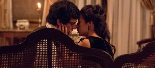 Há chances do romance entre Joaquina e Rubião voltar
