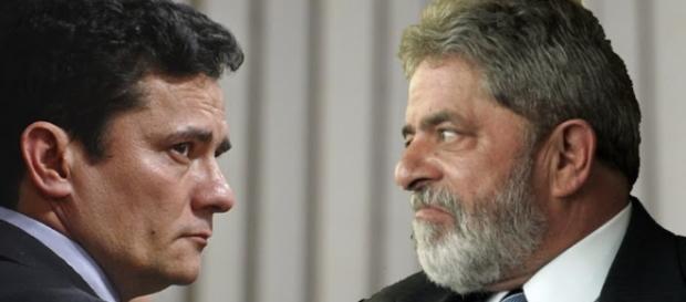 Moro e Luiz Inácio Lula da Silva - Foto/Montagem