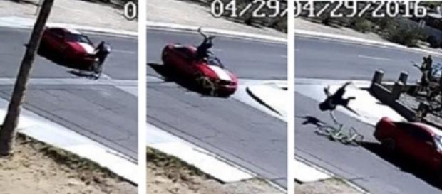 Vídeo mostra mulher atropelando o próprio namorado