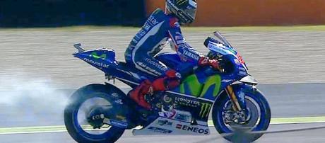 Lorenzo sufrió la explosión de su motor en Mugello