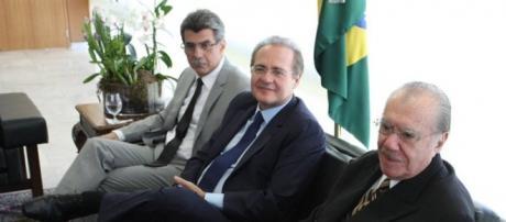 Os caciques do PMDB são acusados de tentativa de obstrução da Lava Jato (Foto: Globo)
