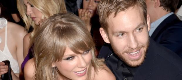 Calvin e Taylor no Billboard Music Awards de 2015