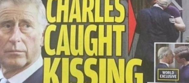 Jornal publicou supostas fotos do Príncipe Charles beijando outro homem