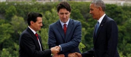 Enrique Peña-Justin Trudeau-Barack Obama