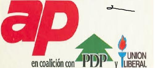 Fotografía donde se reflejan las siglas de algunos partidos de ésta.