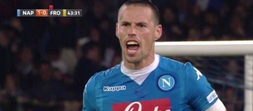 Marek Hamšík, centrocampista del Napoli.
