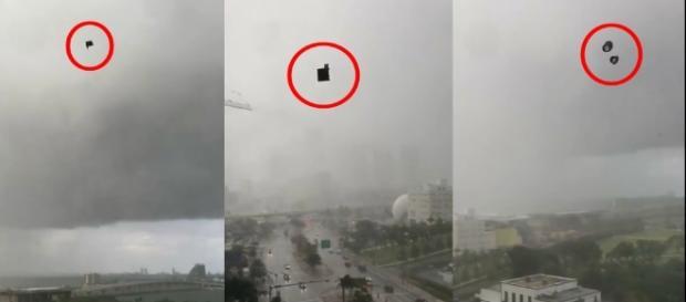Chuva de móveis foi flagrada em vídeo em Miami. YouTube