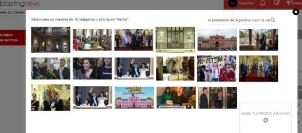 Nueva aplicación para subir imágenes