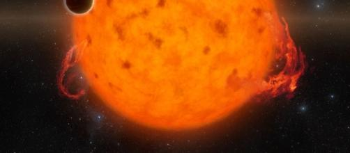 Baby exoplanet found orbiting young star.