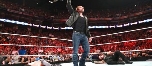 Dean Ambrose after cashing in his Money in the Bank contract to capture the WWE World Heavyweight Championship. Source: WWE.com
