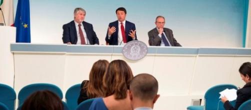 Poletti, Renzi e Padoan al lavoro sulla riforma pensioni 2016