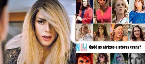 Cauã Reymond foi criticado por viver travesti (Reprodução/Internet)
