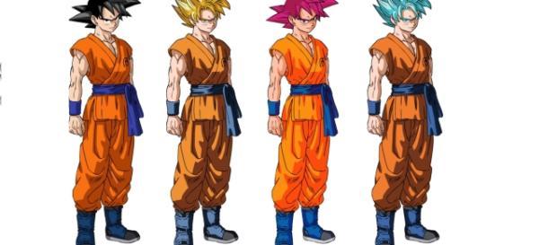Goku transformaciones durante la pelea contra Hit.