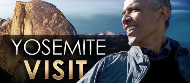 The Obama's visited two national parks.