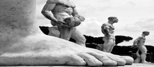 Estatuas de deportistas en Roma. Flickr