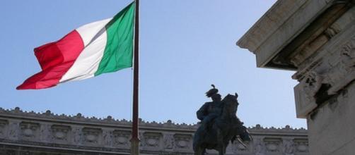 Imagen de Roma, con bandera de Italia. Flickr