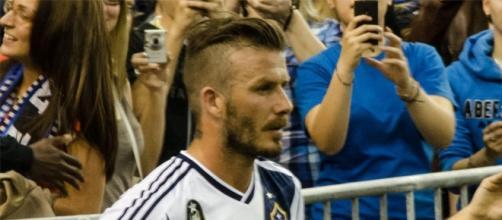 L'ex stella del calcio inglese, David Beckham