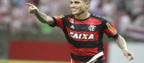 Paolo Guerrero, jogador do Flamengo.