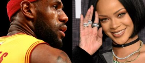 Rihanna posts photos on Instagram of her crush LeBron James