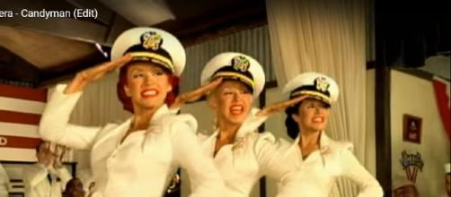 "Screencap of Christina Aguilera in ""Candyman"" video. CAguileraVEVO/YouTube"