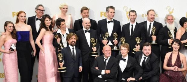 Elenco no Emmy Awards 2015 (Foto: AFP)