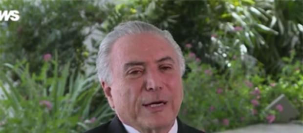 Michel Temer concedeu entrevista exclusiva a Globo News