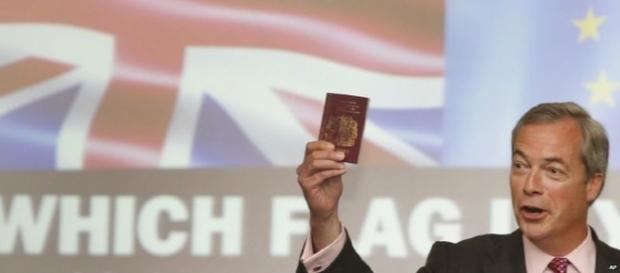 Nigel Farage en uno de los meetings