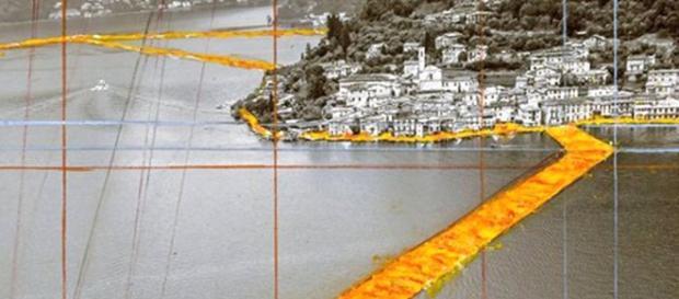70.000 mila metri di tessuto collegheranno Sulzano a Monte Isola