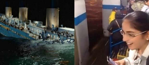 Balsa ameaça afundar e usuários usam trilha de Titanic