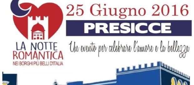 IL 25 GIUGNO A PRESICCE LA PRIMA EDIZIONE DELLA 'NOTTE ROMANTICA' Un Evento per celebrare l'amore e la bellezza