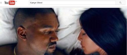 Kanye West & Kim Kardashian in music video – Via YouTube