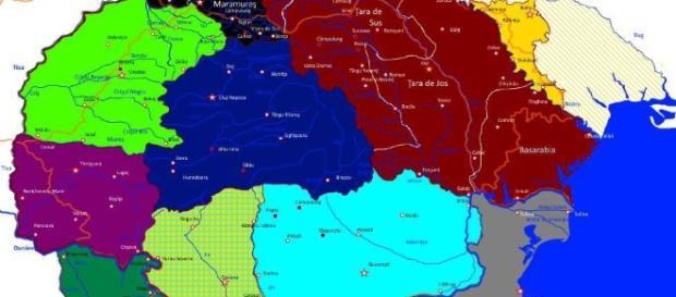 România Mare, harta regiunilor istorice româneşti