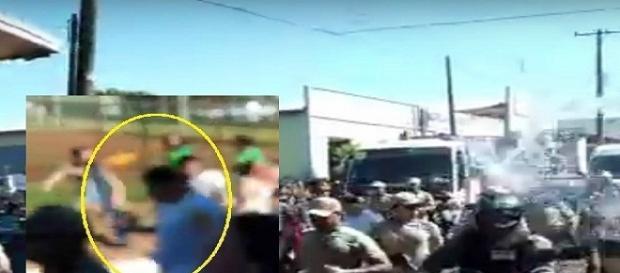 Homem tenta apagar a tocha olímpica com balde de água e vai preso