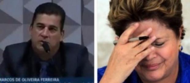 Testemunha de Dilma ataca presidente