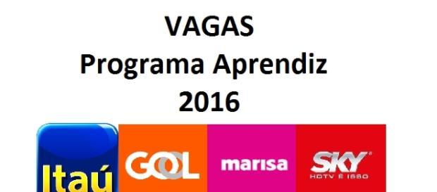 Programa Aprendiz 2016 - Veja as vagas