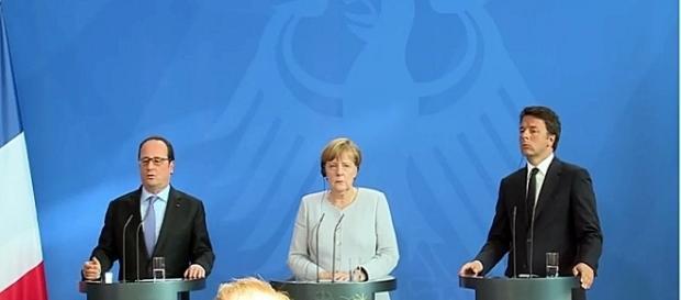 Rueda de prensa conjunta de Merkel, Hollande y Renzi Euronews