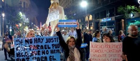 Manifestación en reclamo a la suba de tarifas