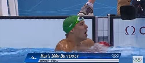 Chad Le Clos London 2012. Screencap via YouTube