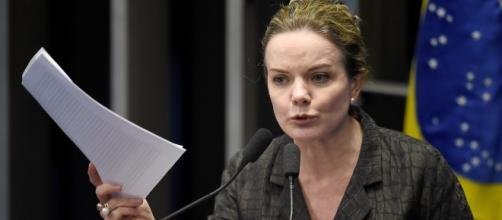 Gleisi Hoffmann discursou na tribuna do Senado, nessa segunda-feira (27)